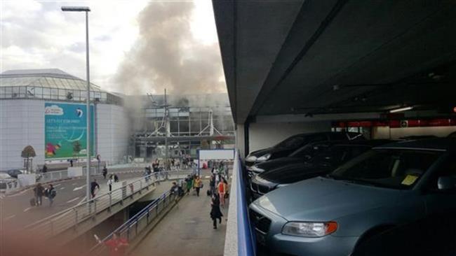 انفجار در فرودگاه بروکسل بلژیک