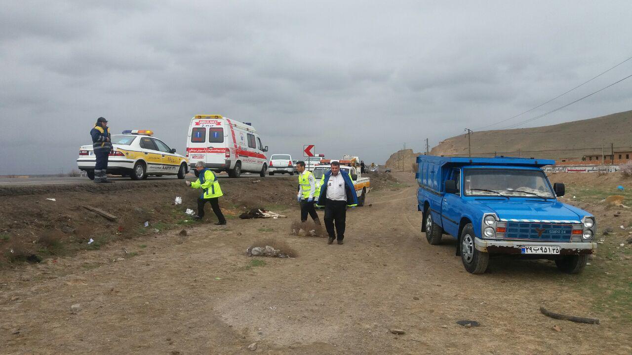برخورد سه خودرو, هفت تن را راهی بیمارستان کرد