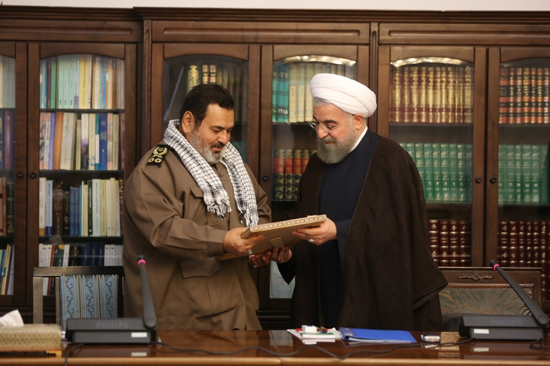 تقدیر رییس جمهوری از خدمات سرلشکر فیروزآبادی