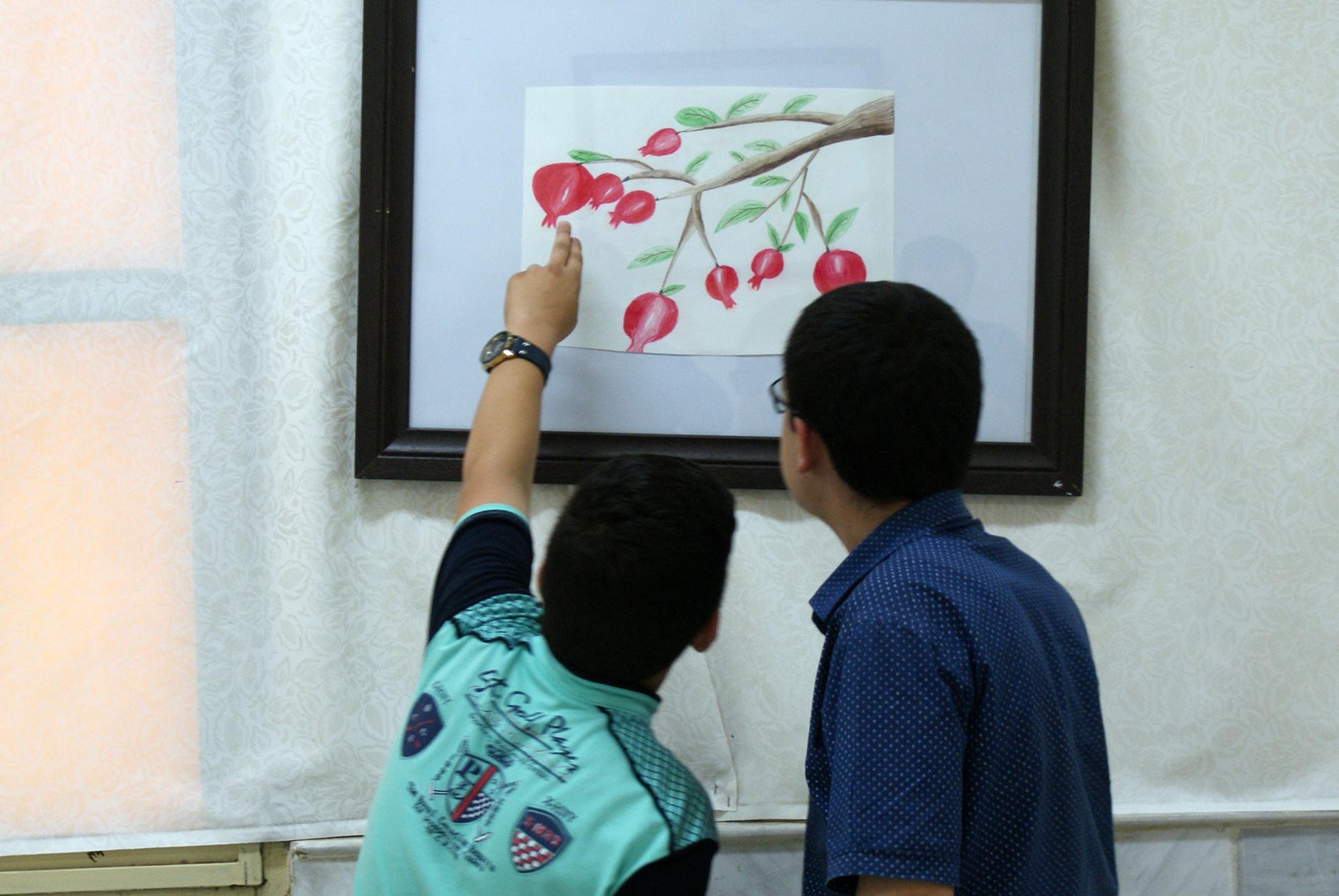 تصورات دختر ۱۰ساله تبریزی در قاب نقاشی / تصاویر