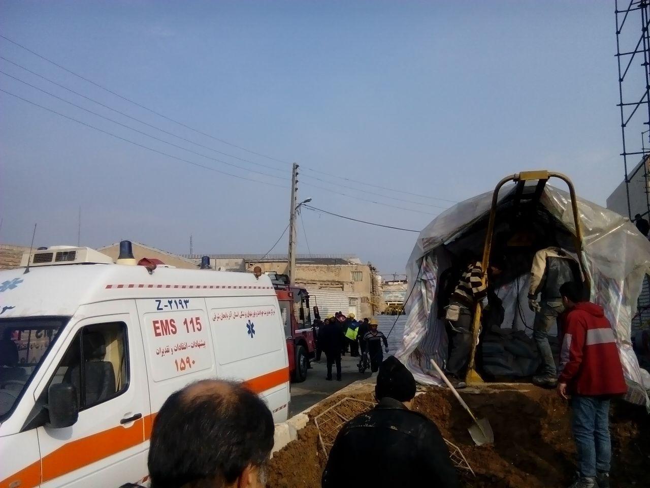 ریزش آوار در محل حفر و کارگاه تونل انرژی تبریز