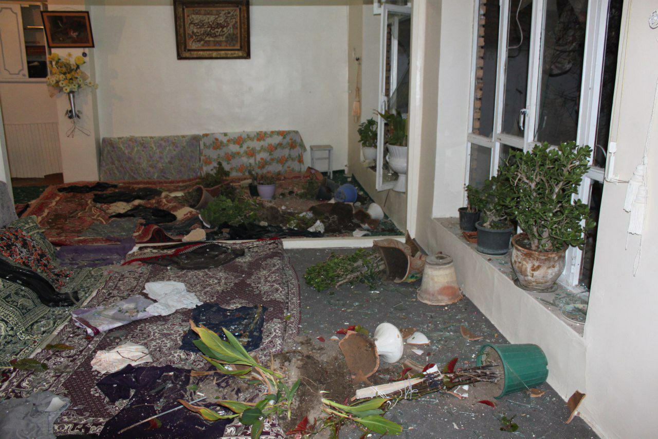 انفجار مهیب در منزل مسکونی در خیابان شهید مفتح تبریز