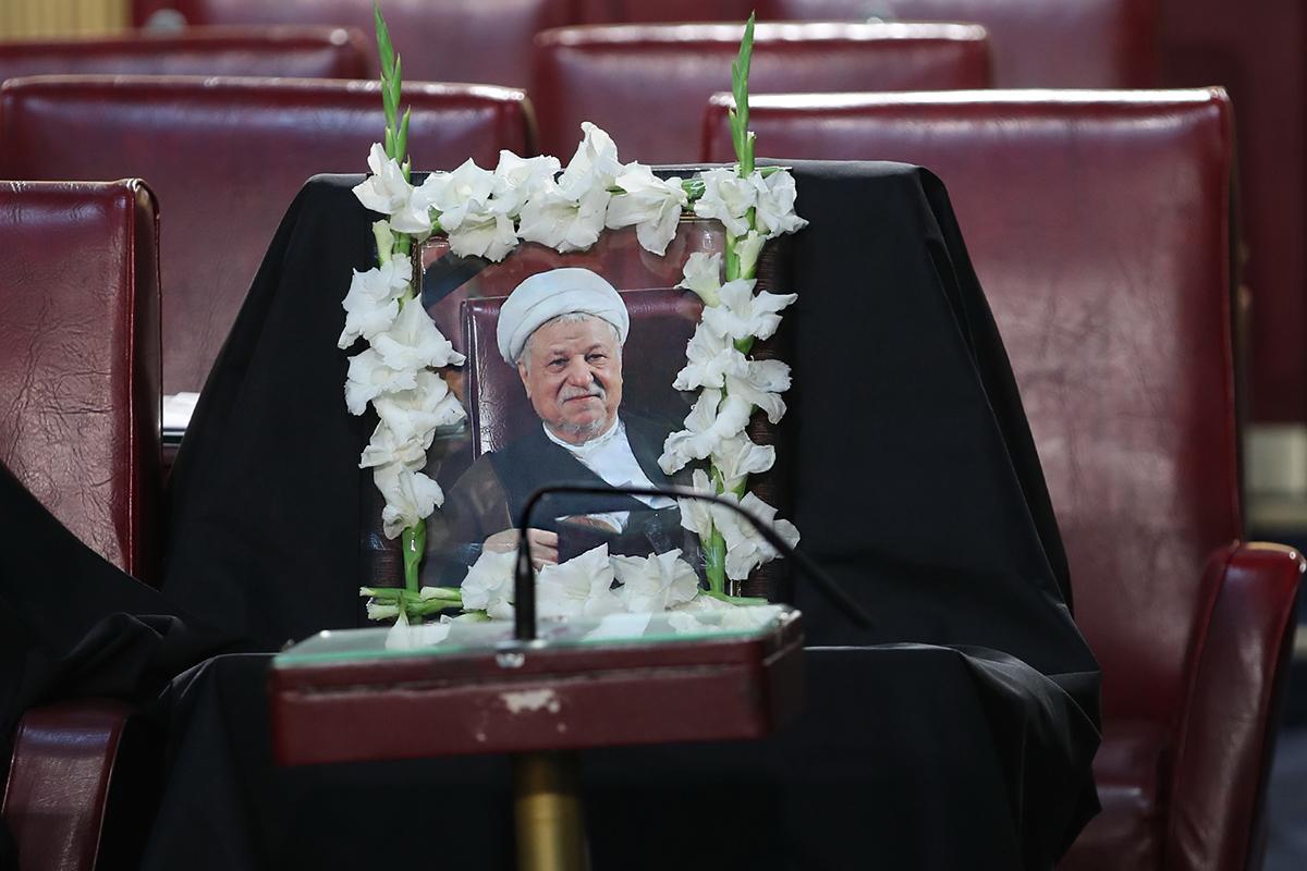 جای خالی آیت الله هاشمی رفسنجانی در مجلس خبرگان / عکس