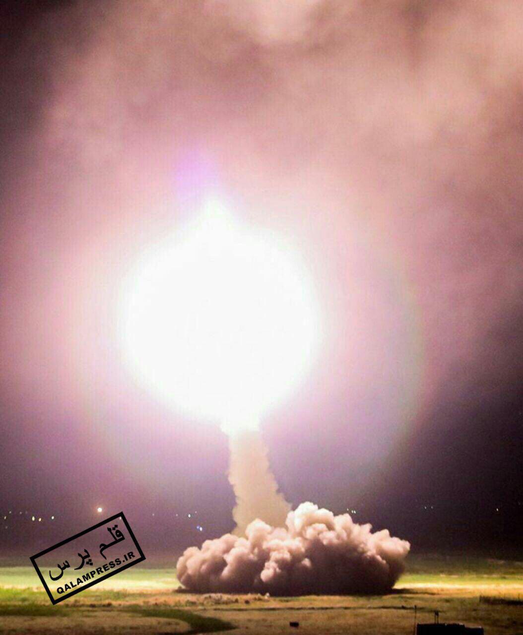 موشکها با عبور از آسمان دقیقا به اهداف تعیین شده اصابت کرده است
