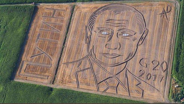 کشاورز ایتالیایی پرتره پوتین را روی مزرعه خود کشید +عکس