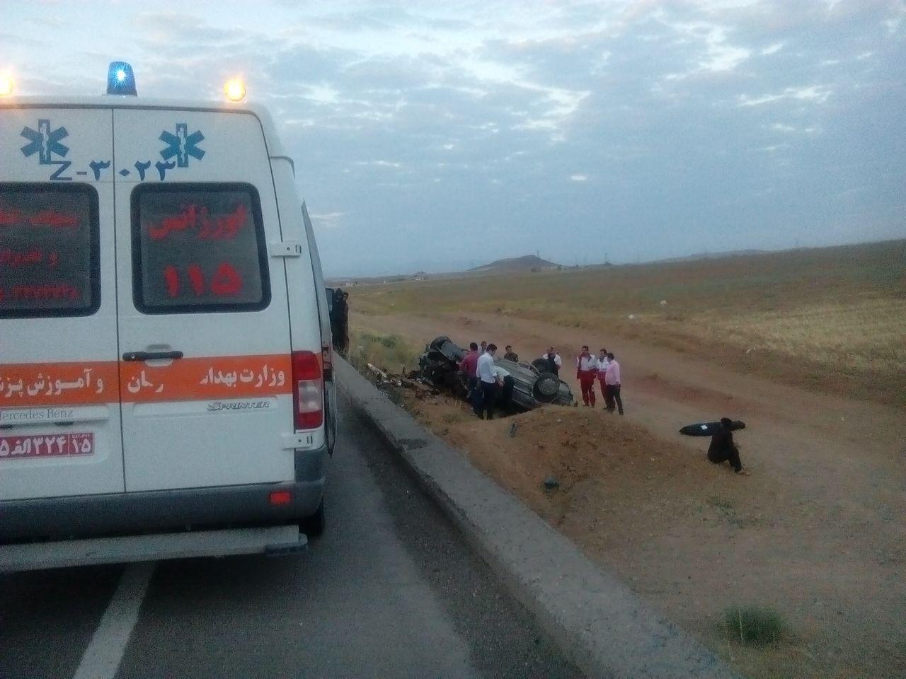 واژگونی پژو۴۰۵ در محور تبریز اهر یک کشته بر جای گذاشت
