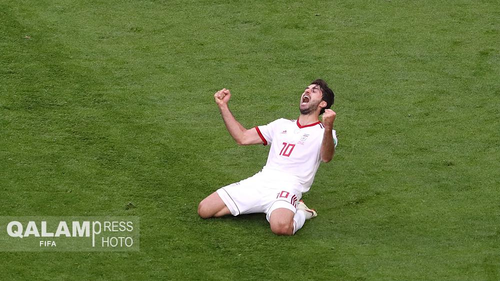 لحظاتی زیبا از بازی ایران – مراکش / گزارش تصویری