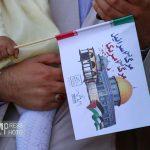 امروز همه آمده بودند برای حمایت از فلسطین + گزارش تصویری