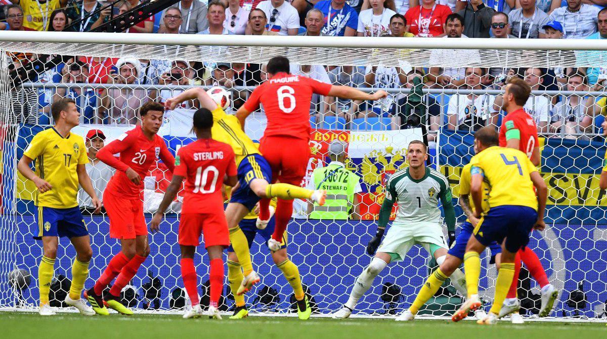 انگلیس ۲ – سوئد ۰ / انگلیس به نیمه نهایی جام جهانی رسید
