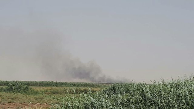 انتشار دود در آسمان برخی شهرها در پی آتشسوزی تالاب هورالعظیم/ بیمارستان ها در آماده باش