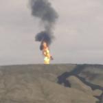فوران آتشفشان بزرگ عثمان بوزداگ در باکو+ فیلم