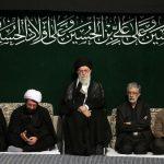 مراسم عزاداری در حسینیه امام خمینی(ره)با حضور رهبر معظم انقلاب شام غریبان برگزار شد