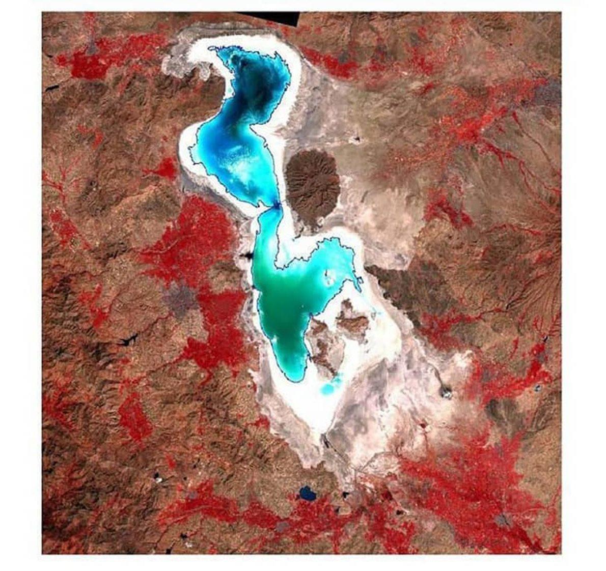 افزایش مساحت دریاچه ارومیه ۱۵۰ کیلومتر مربع/ فناوری فضایی در بهبود کسب و کارهای خدماتی موثر است