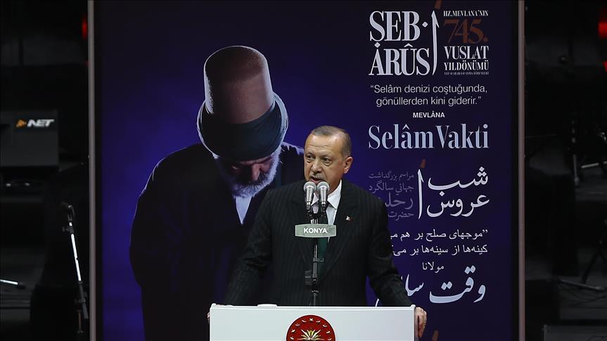 اردوغان: مثنوی بزرگترین هدیه مولانا به بشریت است