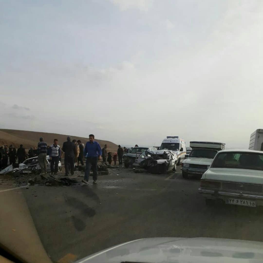 تصادف پرید و مزدا در محور اهر تبریز حادثه آفرید