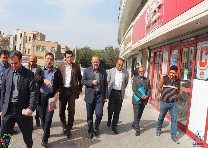 بازدید شهردار و مدیران شهرداری منطقه ۲ تبریز از پروژه مشارکتی مجتمع جدیری