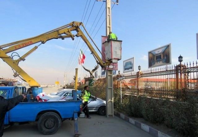 زوائد بصری تقاطع های شهری تبریز حذف می شود
