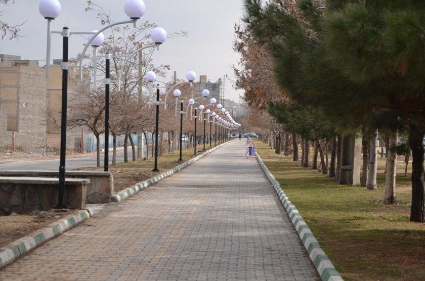 تامین روشنایی بوستان تلاش خیابان رسالت تبریز