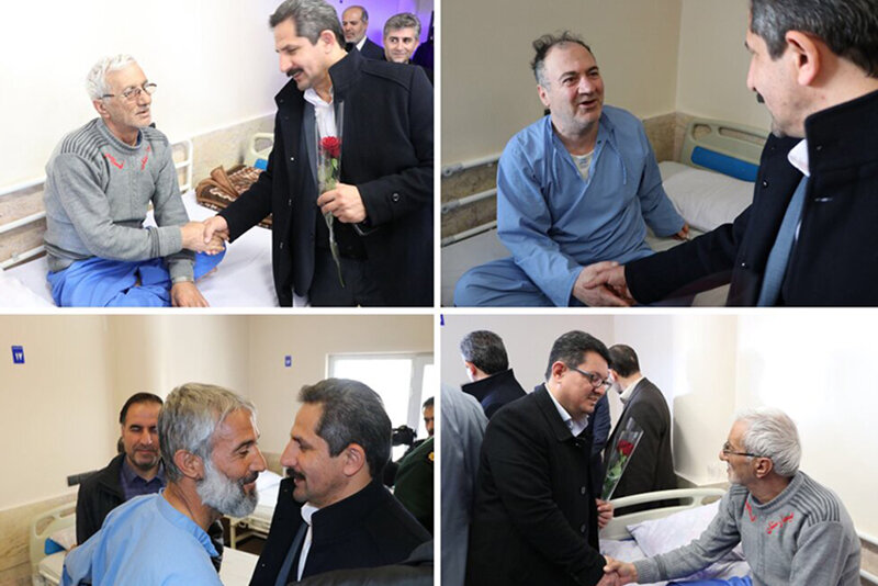 عیادت شهردار تبریز از جانبازان بیمارستان تخصصی اعصاب و روان فجر تبریز