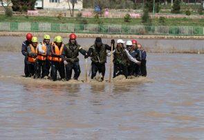 مانور آماده باش سازمان آتش نشانی برای مقابله با حوادث احتمالی سیلاب