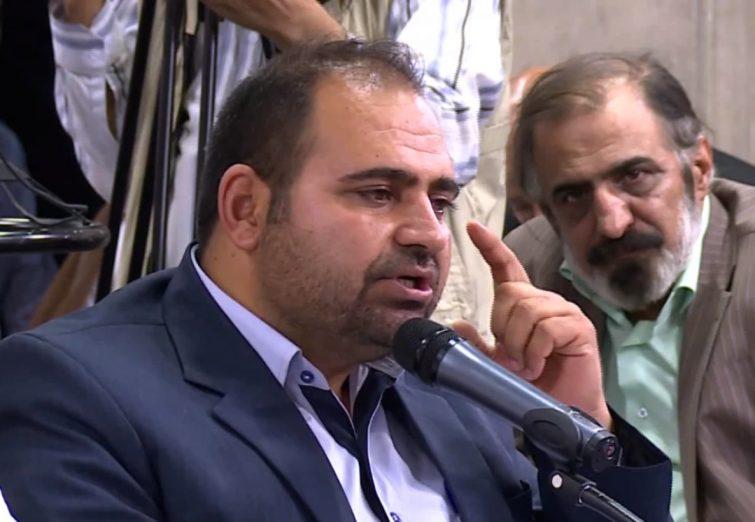 شعرخوانی آقای ابراهیم قبله آرباطان شاعر آذربایجانی در محضر رهبر انقلاب