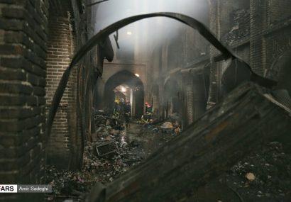 بازار تاریخی تبریز پس از آتشسوزی