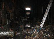 آتش به ۱۲۰ مغازه بازار تاریخی تبریز آسیب وارد کرد