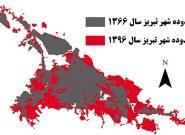روند گسترش شهر تبریز به روایت تصاویر ماهواره ای