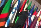 جابجایی پرچم ایران و اسراییل توسط داوودی نماینده مجلس ایران در جریان اجلاس مسکو