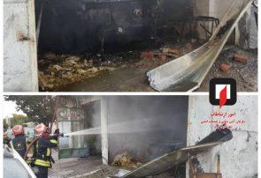 آتش سوزی سه دستگاه خودرو در جاده تبریز آذرشهر