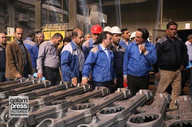 بازدید سرپرست موسسه صندوق بازنشستگی فولاد کشور از ماشین سازی تبریز