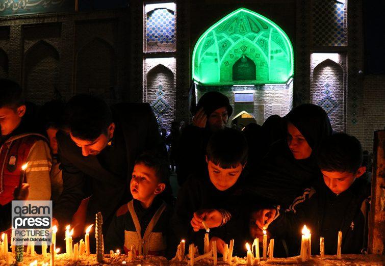 آیین شمع گذاری عاشورا ی حسینی