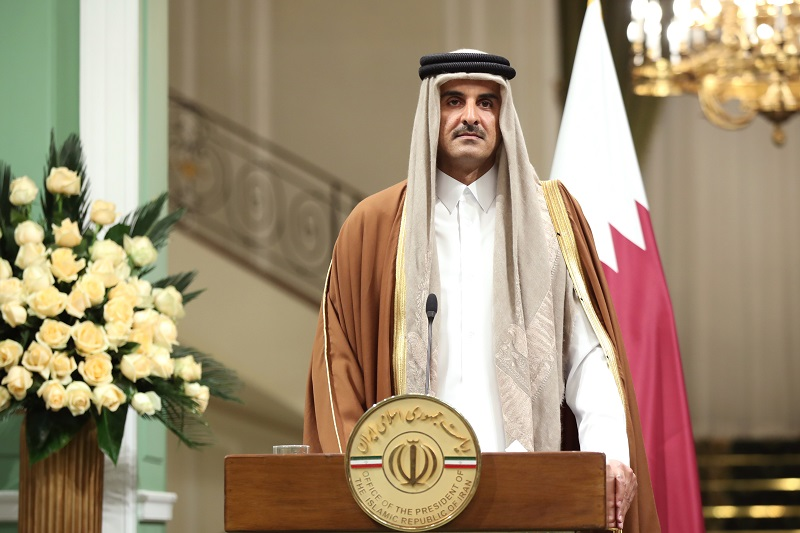 امیر قطر: رابطه ما با ایران تاریخی است / تنها راهحل تمامی بحرانها را گفتگو میدانیم