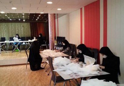تولید البسه محافظ ویژه کادر درمانی کرونا توسط مربیان فرهنگی