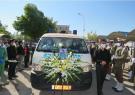 تشییع پیکر نخستین شهید مدافع سلامت شهرستان مراغه با حضور دادستان مراغه