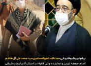 تقدیر امام جمعه تبریز از نوجوان فرمانده جهادی کشور در ایلام