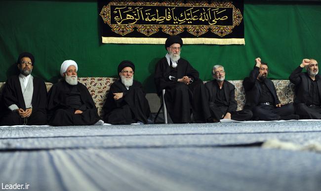دومین شب مراسم عزاداری حضرت فاطمه زهرا (س) با حضور رهبر معظم انقلاب برگزار شد