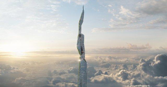 ساخت آسمانخراش ۵ کیلومتری برای تصفیه هوا