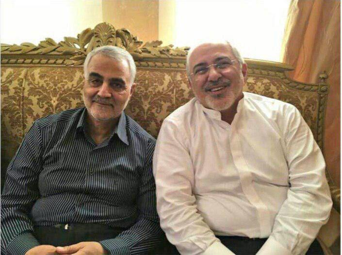 دیدار ظریف و سردار سلیمانی پس از ادعای عضو جبهه پایداری/عکس