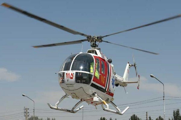 بیمار قلبی بنابی با بالگرد هوایی اورژانس به بیمارستان منتقل شد