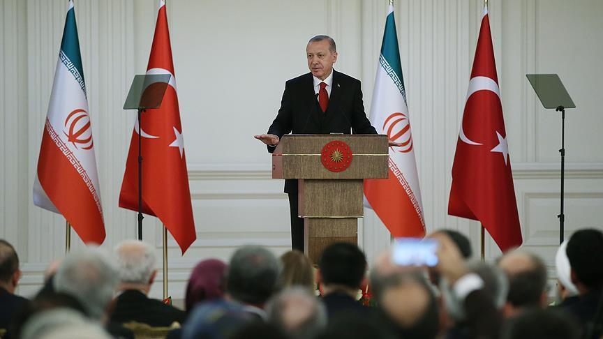 شعر خوانی فارسی رئیس جمهور ترکیه در دیدار با روحانی + فیلم