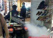 ضد عفونی شهری در بازار تاریخی تبریز برای دومین روز