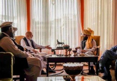 طالبان با رئیس جمهور سابق افغانستان برای تشکیل دولت جدید مذاکره کرد