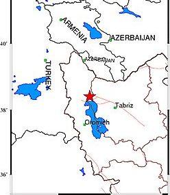 زمینلرزه ۳.۷ ریشتری تسوج را لرزاند